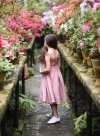 Blush Pink Linen Pinafore Dress