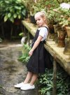 Black Linen Pinafore Dress